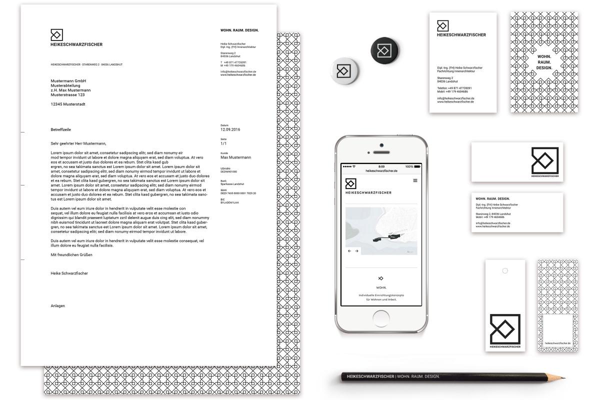 Corporate Design von HEIKESCHWARZFISCHER