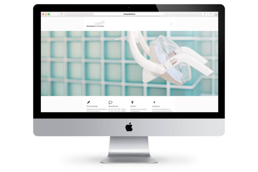 Gestaltung der Website von Zahnarztpraxis Dr. Schwarzfischer in Landshut bei München