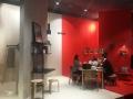 IMM 2018 Köln Interior Design ARTEK Messestand Neonrot Design Studio Besau Marguerre