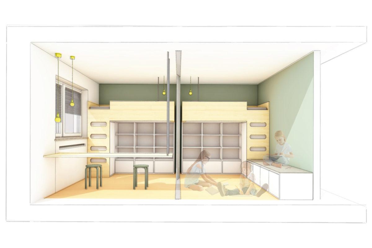Interiordesign, München, Kids, Kinder, Tiny, Stauraum, Funktionell, Platz, House, Minimal