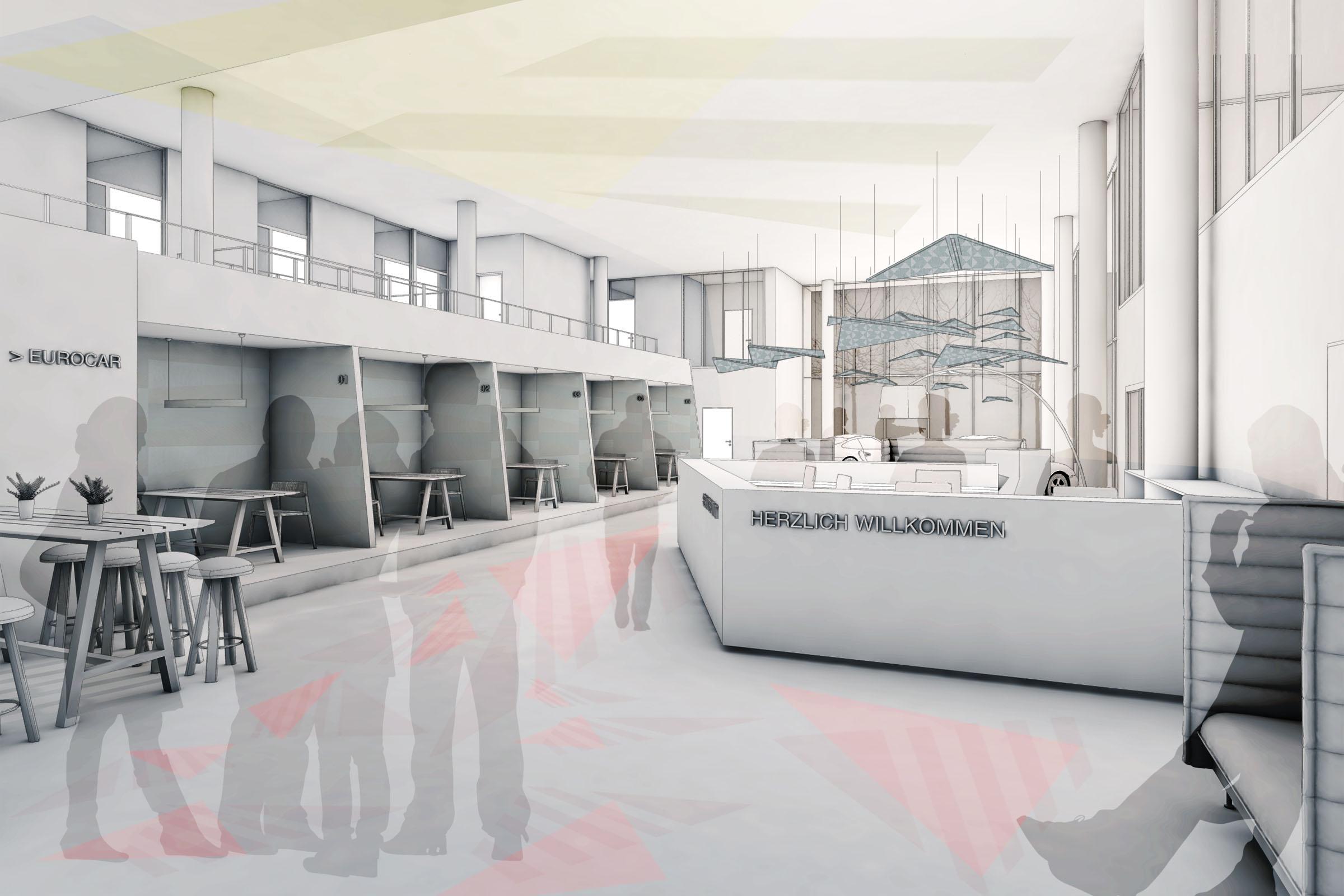 Eurocar Landshut Konzept Showroom Planung HEIKESCHWARZFISCHER Interiordesign
