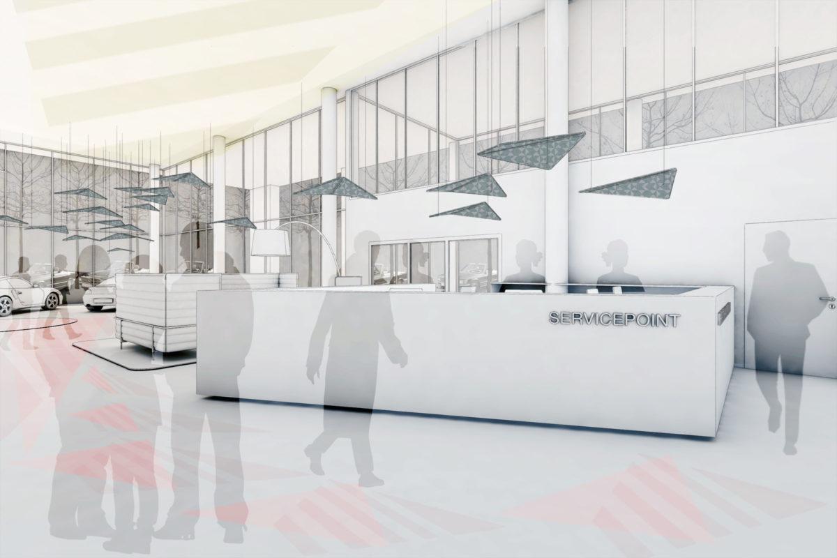 Showroom EUROCAR Landshut HEIKESCHWARZFISCHER Servicepoint