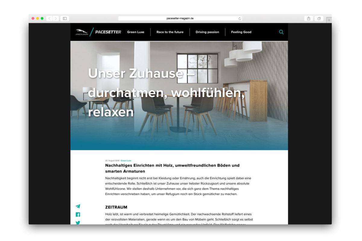 Jaguar-Pacesetter-Ipace-Magazine-Nachhaltig Einrichten-Zuhause