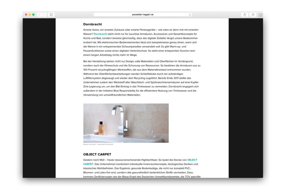 Jaguar-Pacesetter-Ipace-Magazine-Nachhaltig Einrichten-Dornbracht