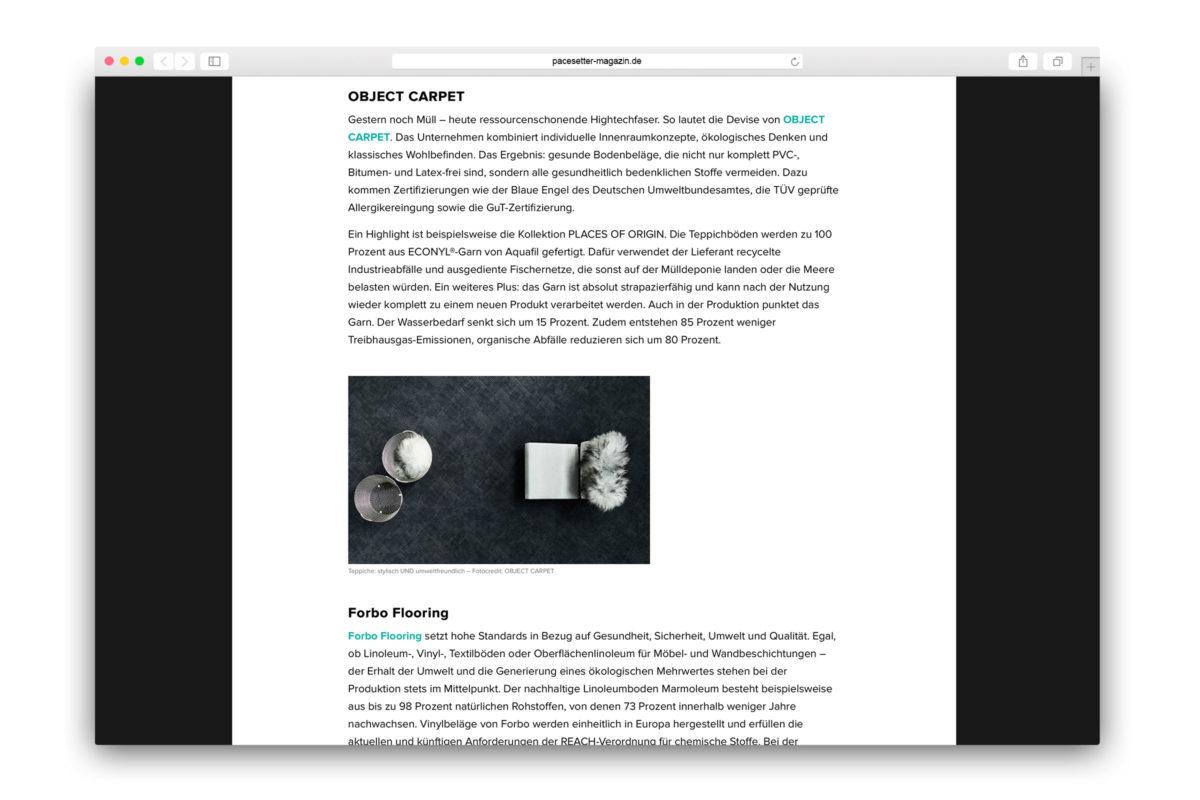 Jaguar-Pacesetter-Ipace-Magazine-Nachhaltig Einrichten-Object Carpet