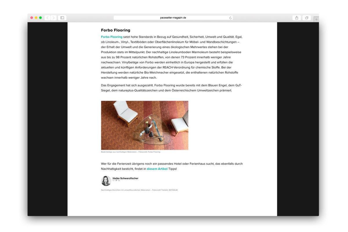 Jaguar-Pacesetter-Ipace-Magazine-Nachhaltig Einrichten-Forbo Flooring