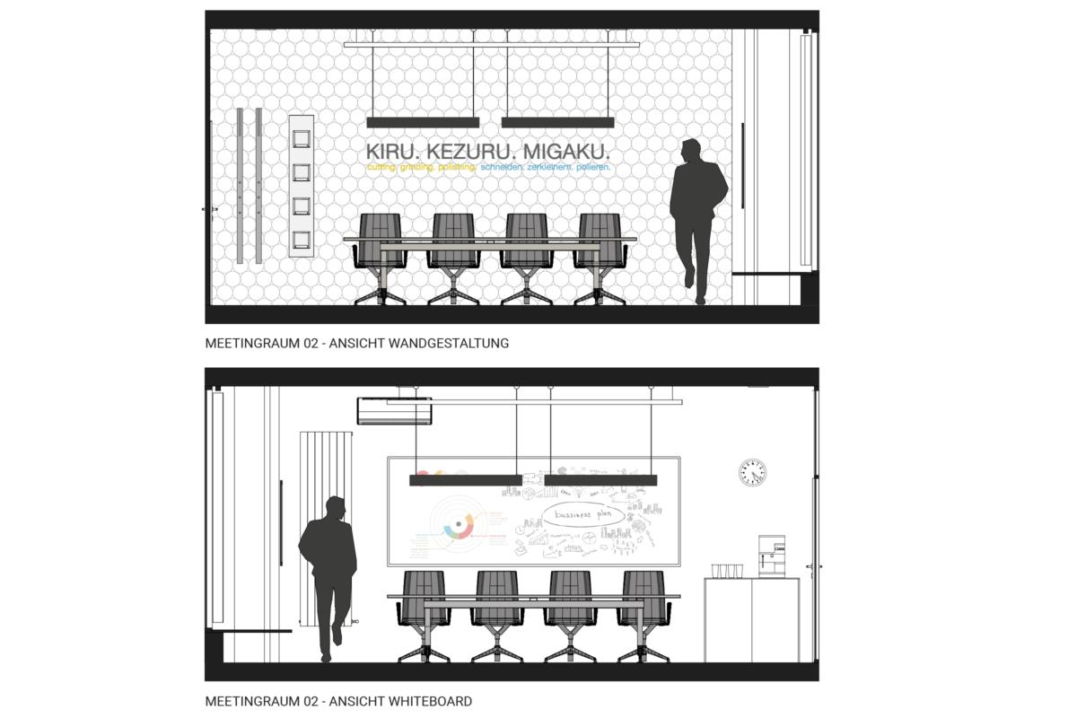 Ansichten Meetingräume DISCO HI-TEC München HEIKESCHWARZFISCHER