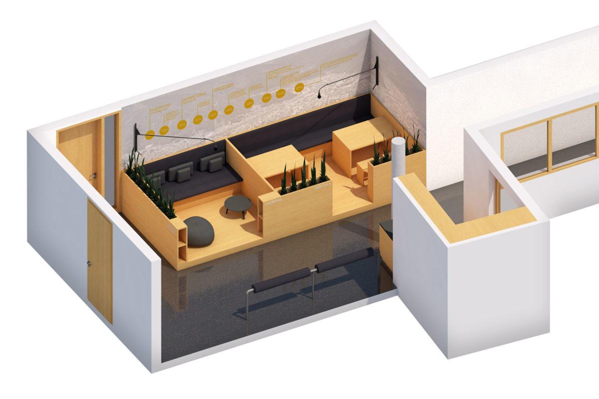 Alternatives Designkonzept für die Lounge der DISCO HI-TEC in Kirchheim bei München im japanischen Stil © Innenarchitekt: Heike Schwarzfischer Interiordesign Landshut