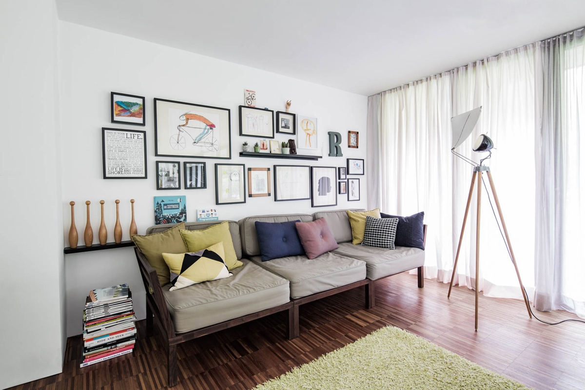 Wohnraum für die Familie in modernem Wohnstil mit zeitlosen Klasssikern und einer Spur Vintage © Heike Schwarzfischer Interiordesign in Landshut bei München