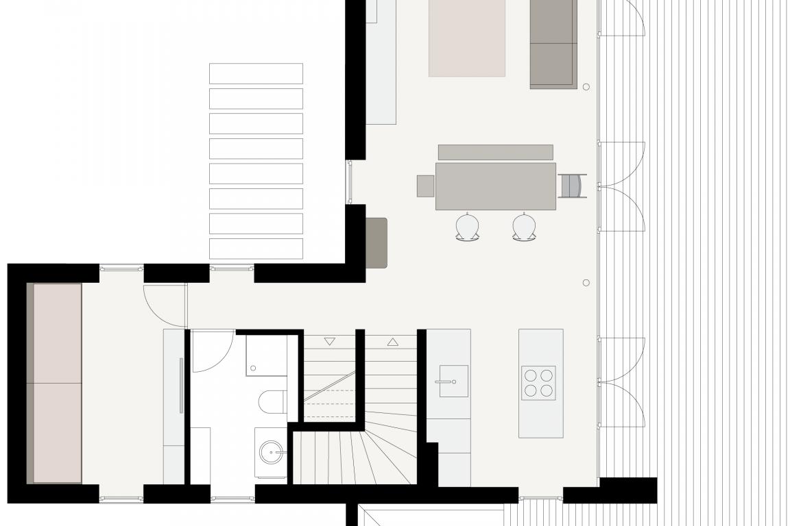 Wohnraumgestaltung für eine fünfköpfige Familie in modernem Wohnstil mit zeitlosen Klasssikern und einer Spur Vintage © Heike Schwarzfischer Interiordesign in Landshut bei München
